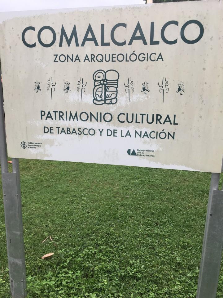 All'ingresso di Comalalco