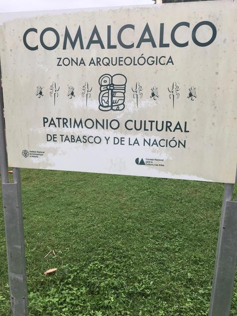 L'ingresso al sito di Comalcalco