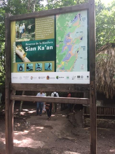 L'ingresso della Riserva Biosfera di Sian Kaan