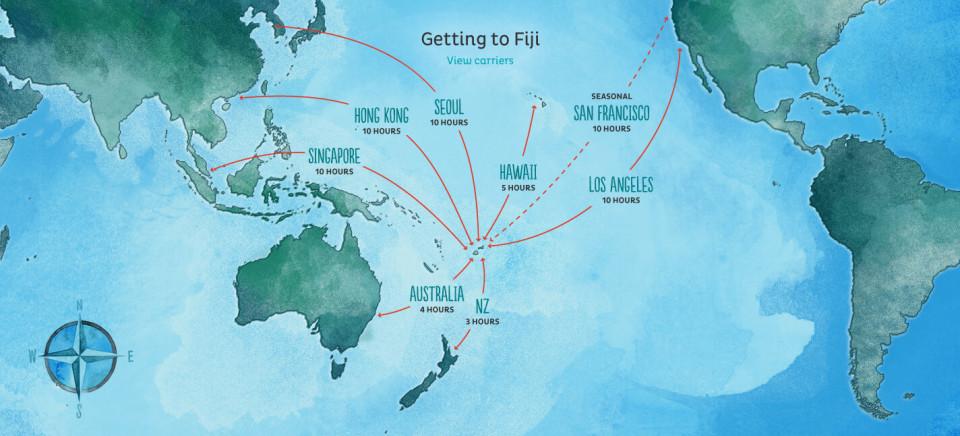 Per arrivare alle Fiji