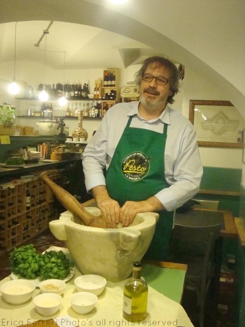 Roberto Panizza al lavoro