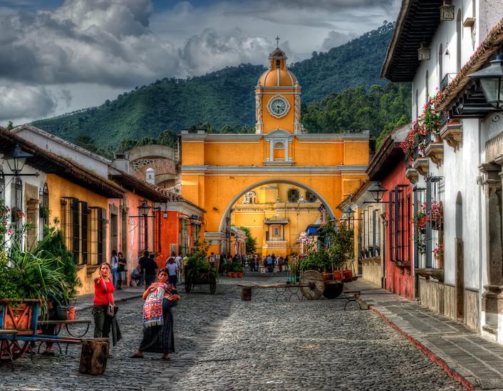 La meravigliosa affascinante coloniale cittadina Antigua di Guatemala.