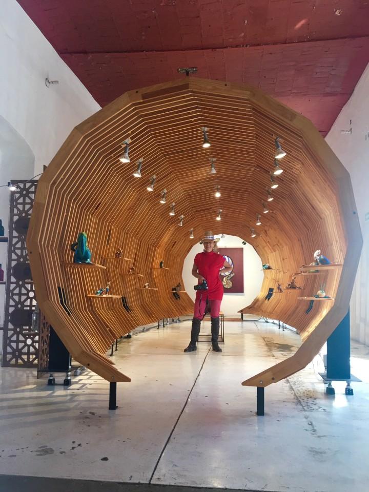 Dentro una delle superbe Gallerie d'arte