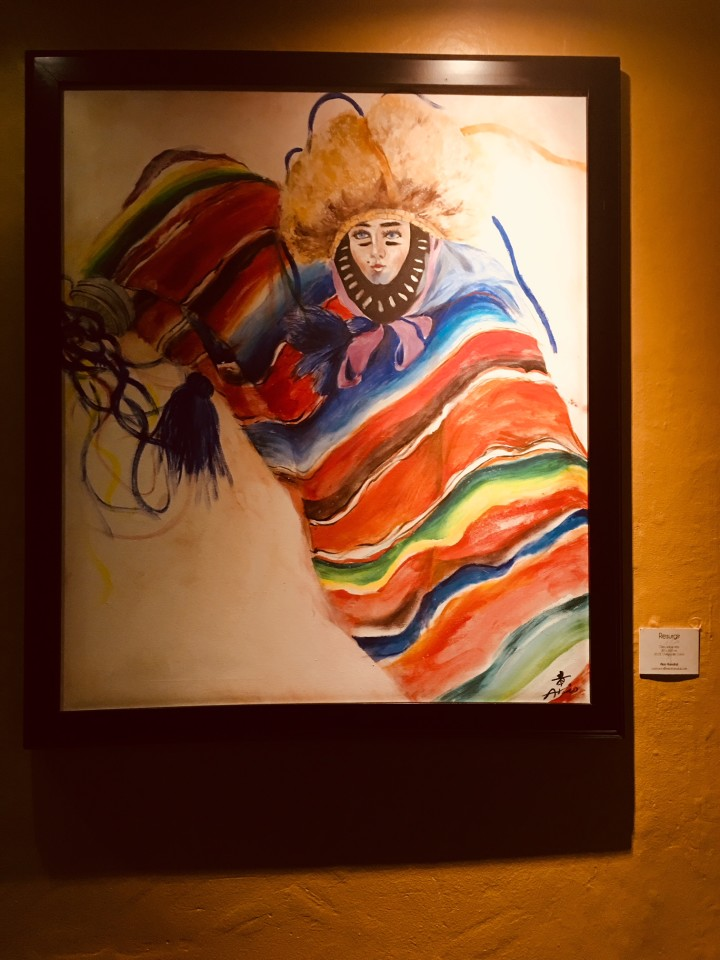 Arte giapponese espone all'hotel  Casa de l'Alma in San Cristobal de las Casas