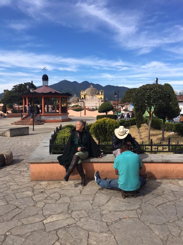 Attendendo il mio turno nella piazza principale di San Cristobal