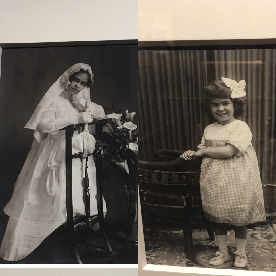 Frida bambina, a 4 anni e durante la Comunione