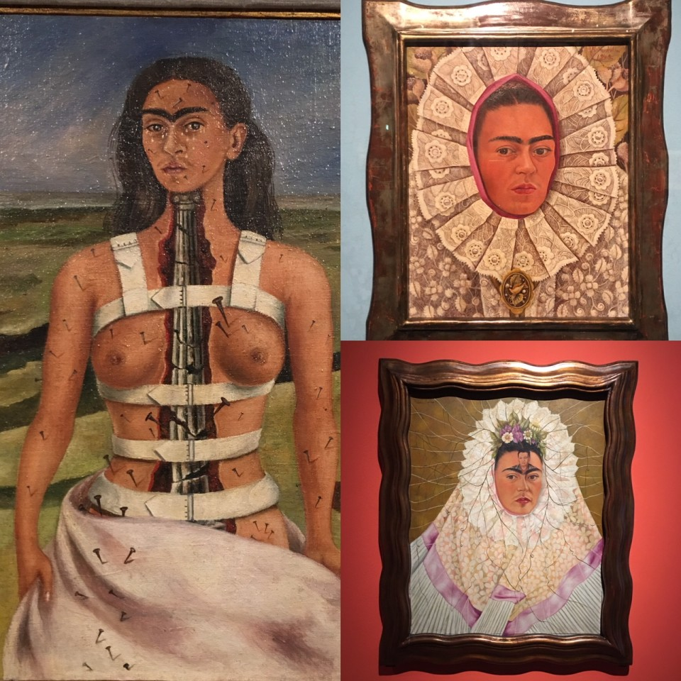 Alcuni dei quadri esposti