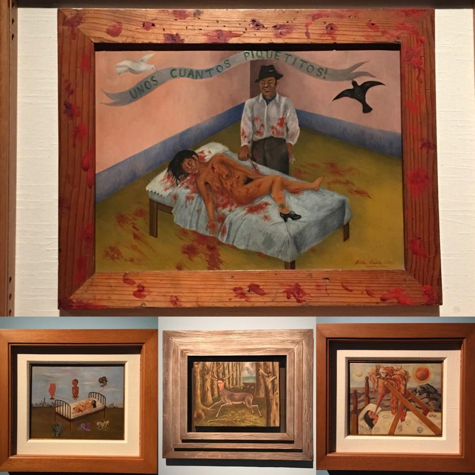 Altro collage di opere di Frida Kahlo esposte