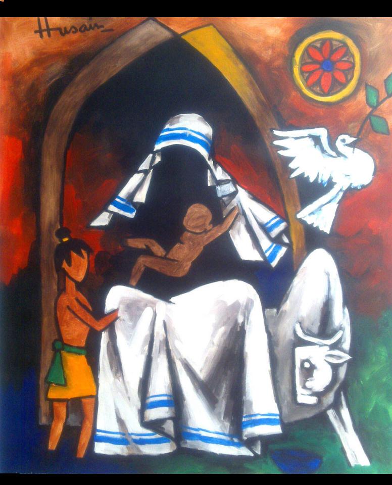 Madre Teresa come la vedeva il pittore