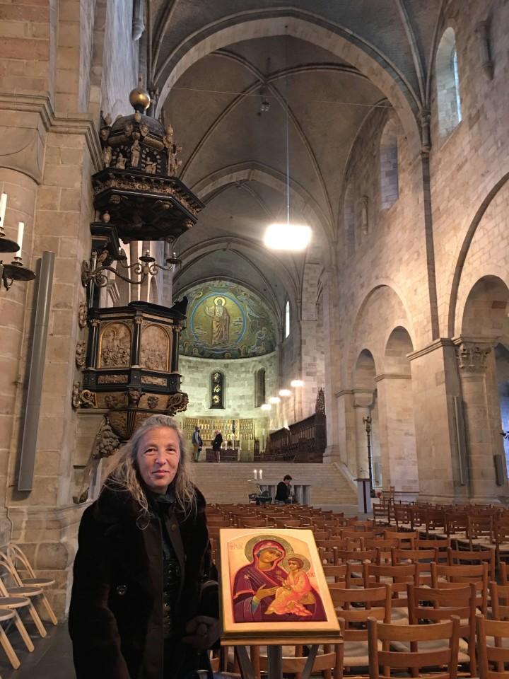 All'interno della Cattedrale di Lund dove c'è l'orologio astronomico