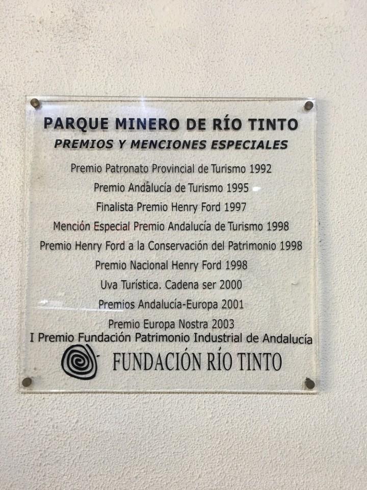 Tutti i Premi del Parque MInero Rio Tinto