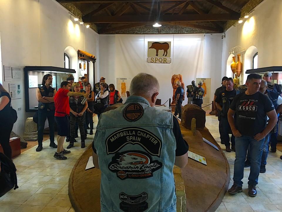 Durante la visita al Museo Minero