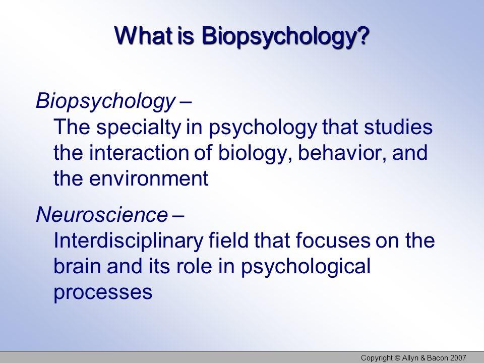 Cos'è la Psicobiologia (in inglese)