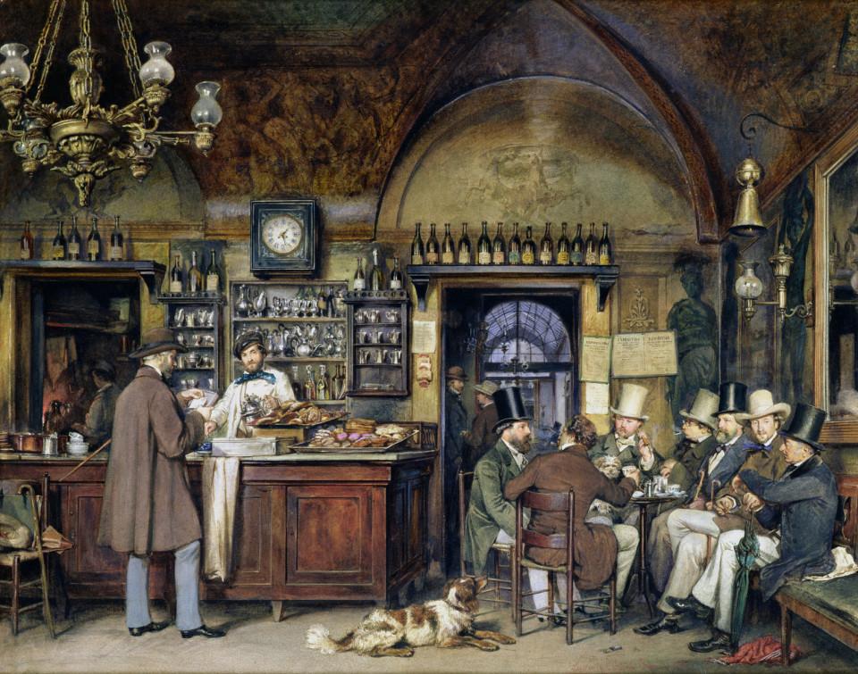 L'atmosfera dei Caffè di un tempo (Caffè Greco a Roma)