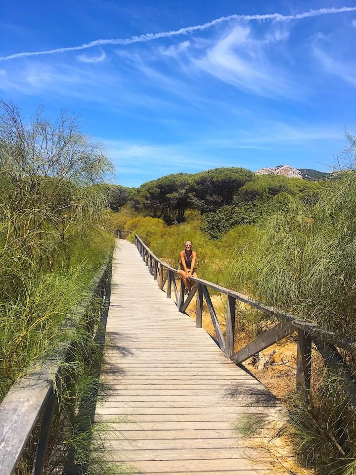 La passerella che porta vicino alla duna