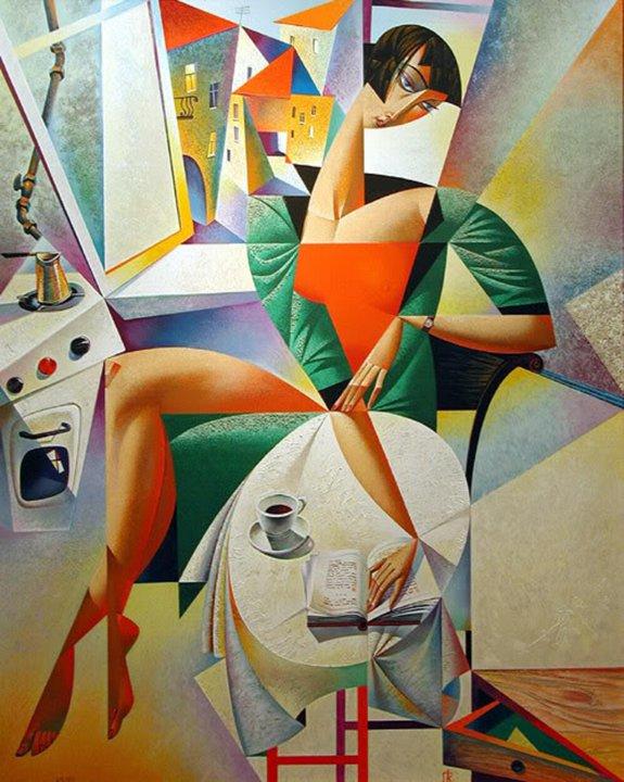 Una quadro che ricorda il cubismo