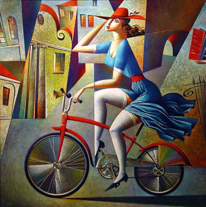 In bicicletta di Kurasov