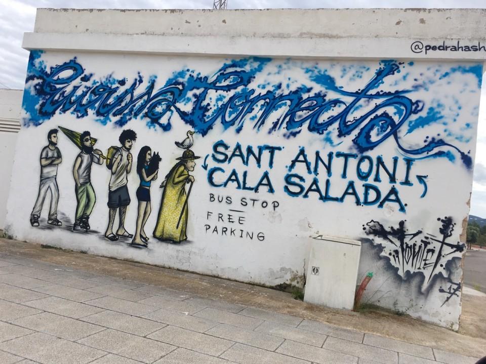 Un murales per strada