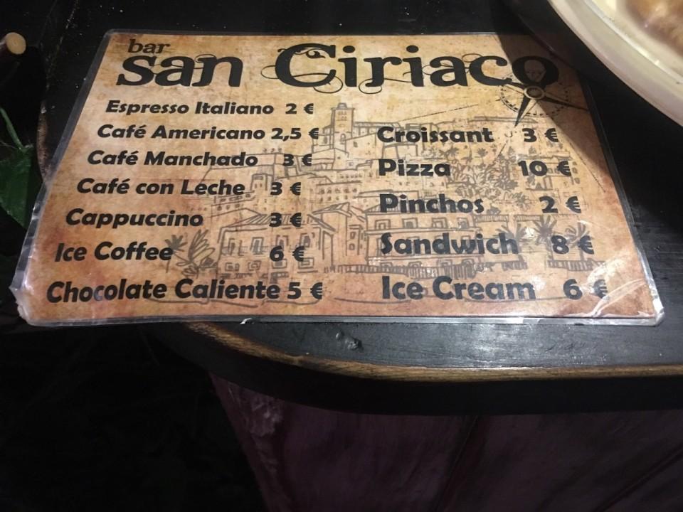Menù di San Ciriaco