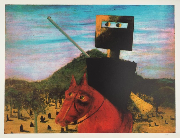 Kelly and Red Horse 1972 Sir Sidney Nolan 1917-1992
