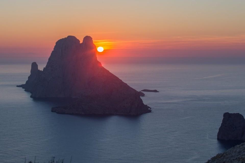Il tramonto dietro Es Vedra