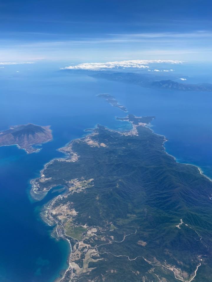 Palawan vista dall'aereo
