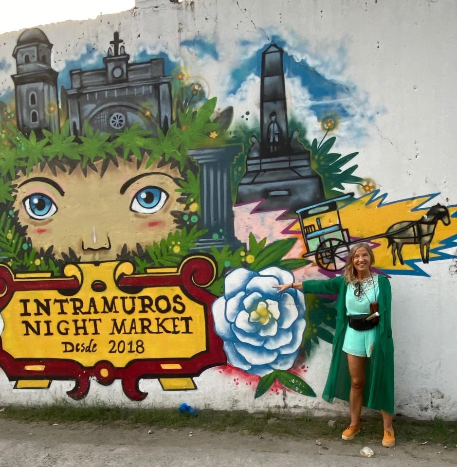 Uno dei tanti murales dentro le Mura