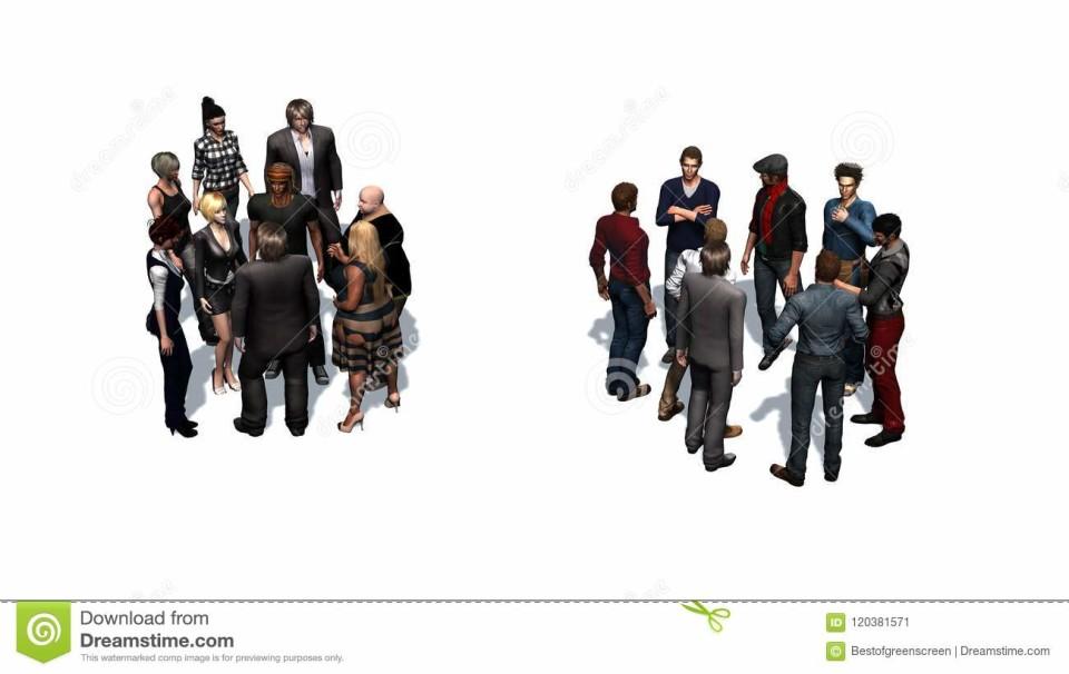 Ci sono due gruppi di persone